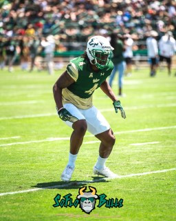 29 - USF Spring Game 2018 - USF LB Jimmy Bayes by Dennis Akers - SoFloBulls.com (3732x4665)
