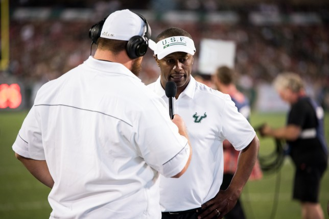90 - Navy vs. USF 2016 - USF Head Coach Willie Taggart Thor Jozwiak by Dennis Akers | SoFloBulls.com (6016x4016)
