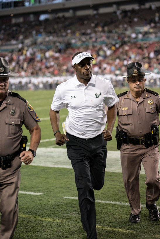 91 - Navy vs. USF 2016 - USF Head Coach Willie Taggart by Dennis Akers | SoFloBulls.com (4016x6016)
