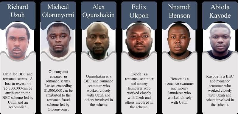 US ARRESTS 6 MORE NIGERIANS