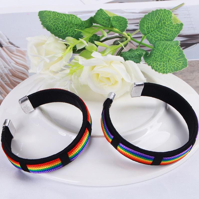 Kpop Lesbians Gays Bisexuals Rainbow Bangle Bracelets Women Men Pride Friendship Jewelry