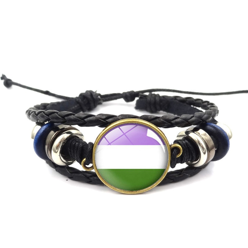 Love One Top Fashion Gay Colour Lesbian Rainbow Bracelet