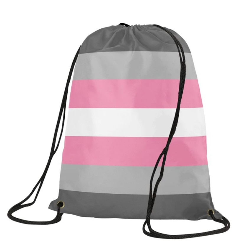 Lgbt Lgbtq Gay Pride Rainbow Mini Drawstring Backpack Lesbian Transgender Bigender Bag