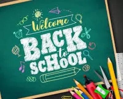 Back to school chalkboard sign