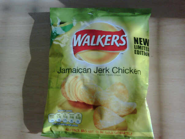 Walkers Jerk Chicken crisps