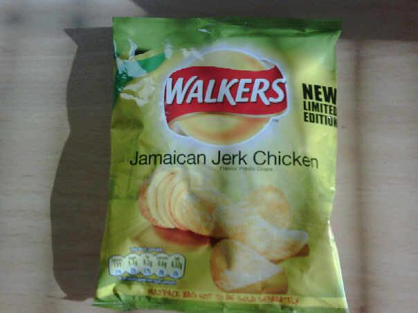 Walkers Jerk Chicken crisps
