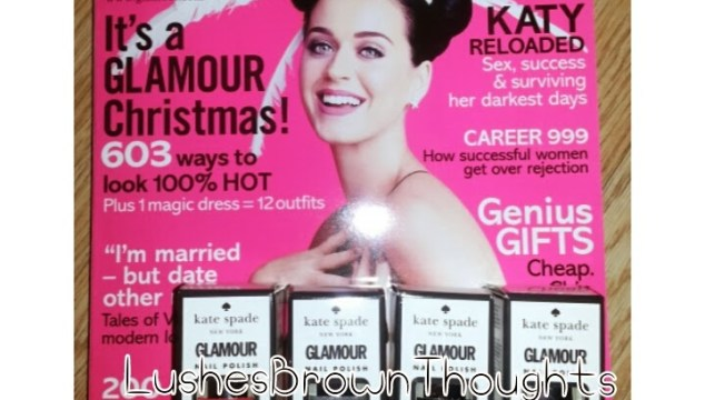 Glamour Mag and Nails Inc Kate Spade