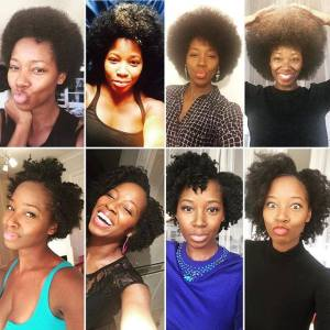 Jamelia natural hair collage