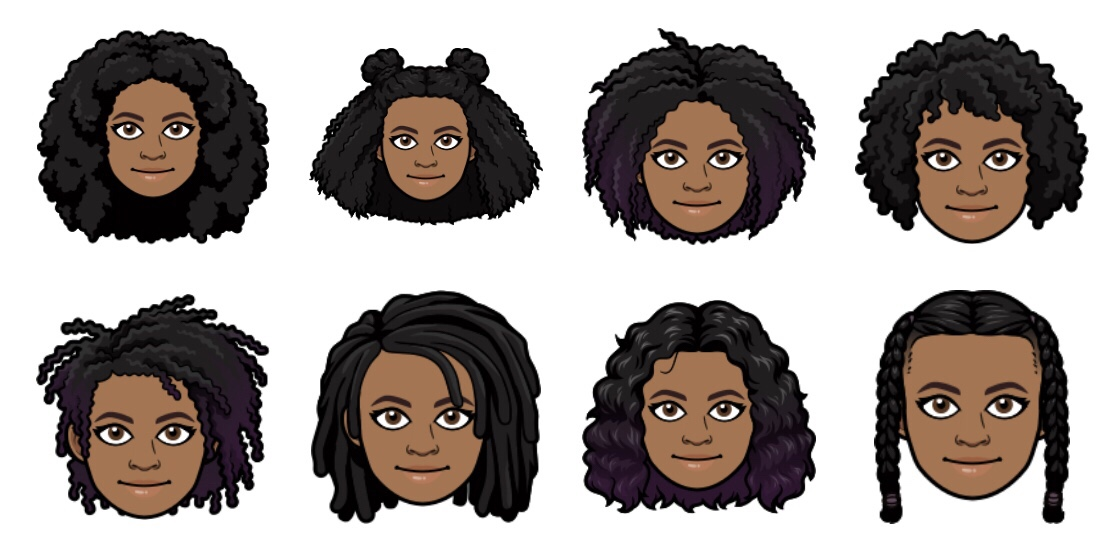 Afro Hairstyles on Bitmoji
