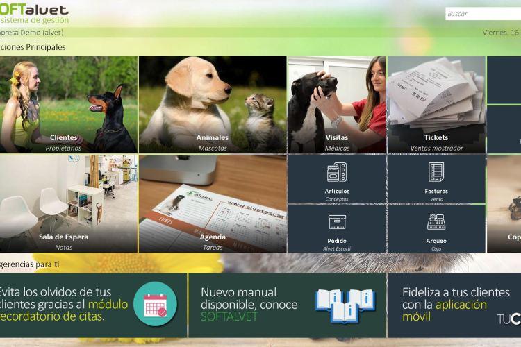 Programa SOFTalvet de gestión veterinaria