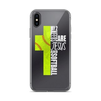 My 2 Needs Are Jesus And Softball Cell Phone Cover