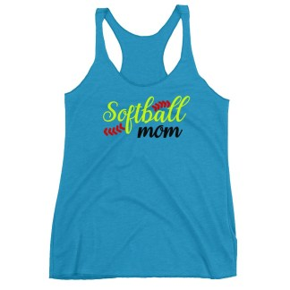 Softball Mom Fastpitch Racerback Tank Top