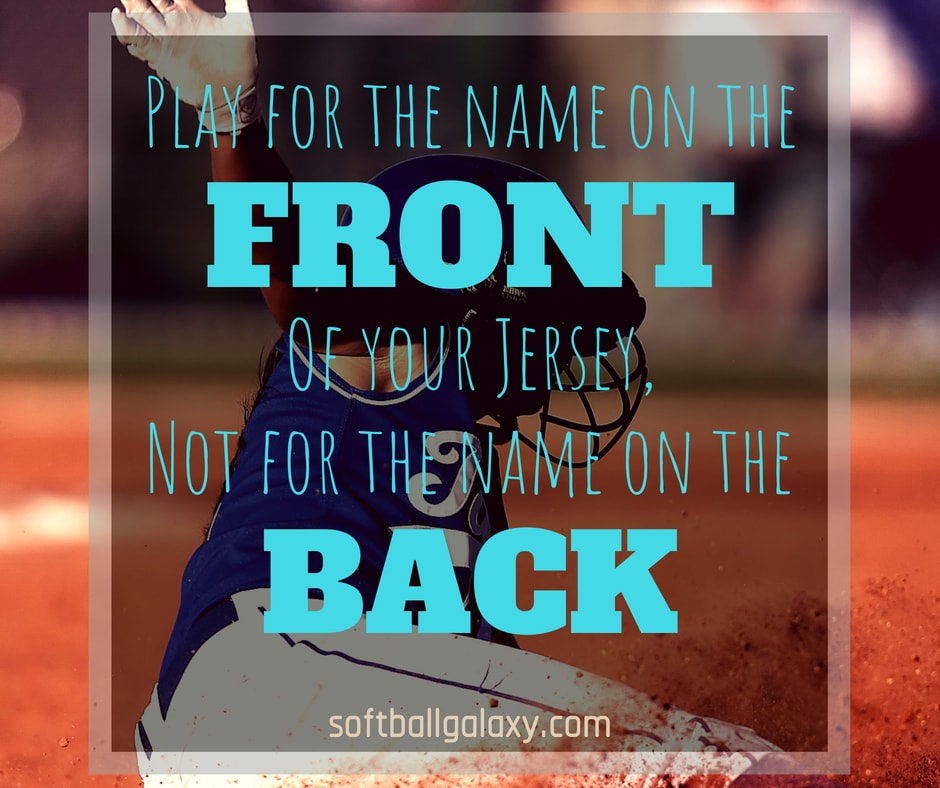 Play For Name On Front Of Jersey Not On Back Softball Meme