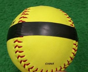 Taped softball