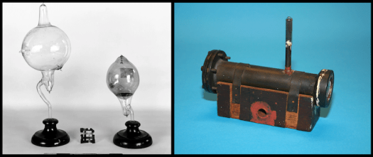 Early apparatuses to produce X-rays and neutrons.