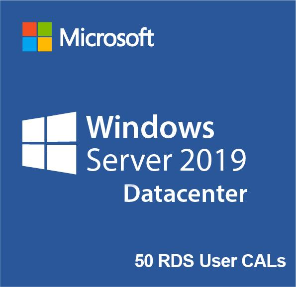 Buy Microsoft Windows Server 2019 Datacenter 50 RDS User Cals