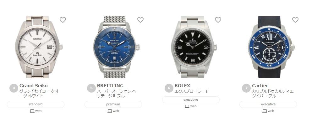 腕時計のレンタル2