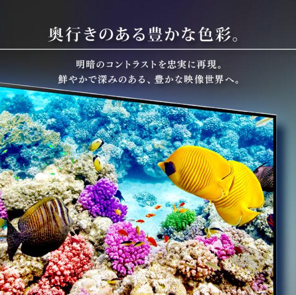 アイリスオーヤマのテレビLUCA【4Kチューナー内蔵テレビ】10