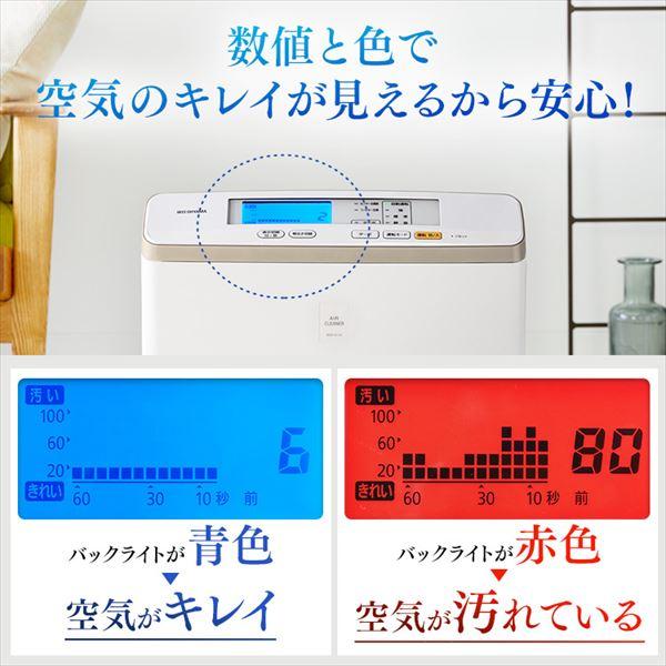 アイリスオーヤマの空気清浄機【RMDK-50】の性能