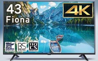 Fionaシリーズ 43V型 4K対応液晶テレビ