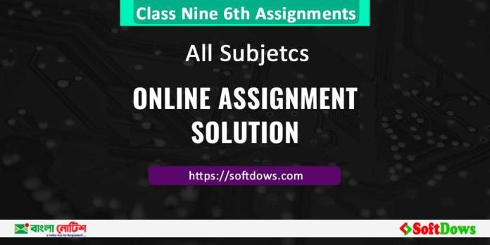 Class Nine 6th Assignments Best solution for all Subjects