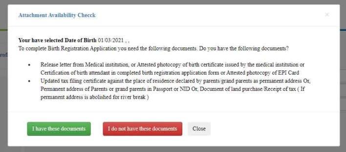 Attachment Availability Check Message: