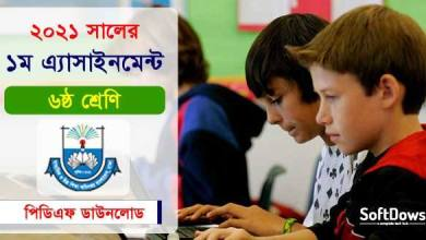 Class 6 Assignment 1st Week 2021 by DSHE PDF Download