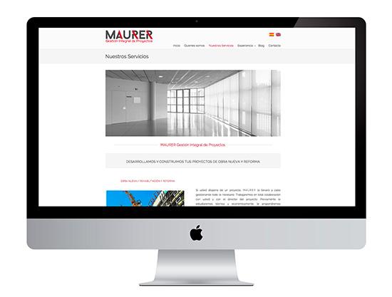 En la creación y diseño de la web de Maurer Gestión integral de proyectos despertamos las ganas de venirse arriba de esta empresa