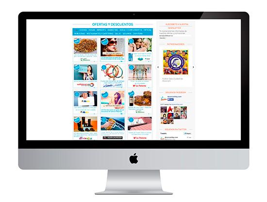 Uno de nuestros grandes proyectos de creación de páginas web, un portal para promocionar ofertas y promociones de comercios y negocios
