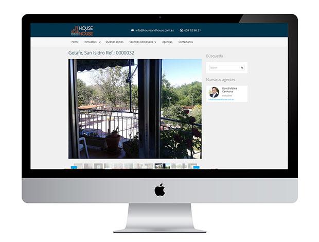 En la creación y diseño de la web de Houseandhouse despertamos las ganas de venirse arriba de esta empresa
