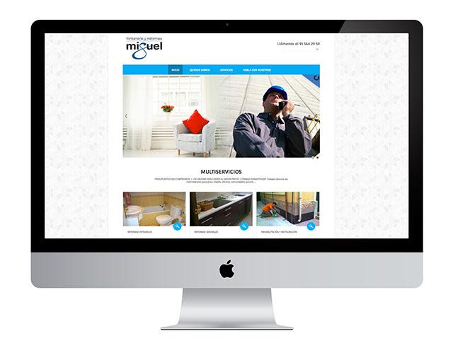 En la creación y diseño de la web de Reformas Miguel despertamos las ganas de venirse arriba de esta empresa