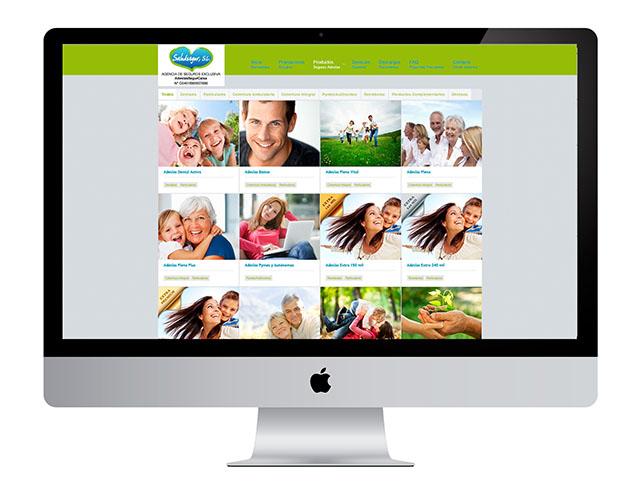 El caso del diseño web de Saludsegur, una compañía de seguros médicos que ha visto como despegaba su imagen