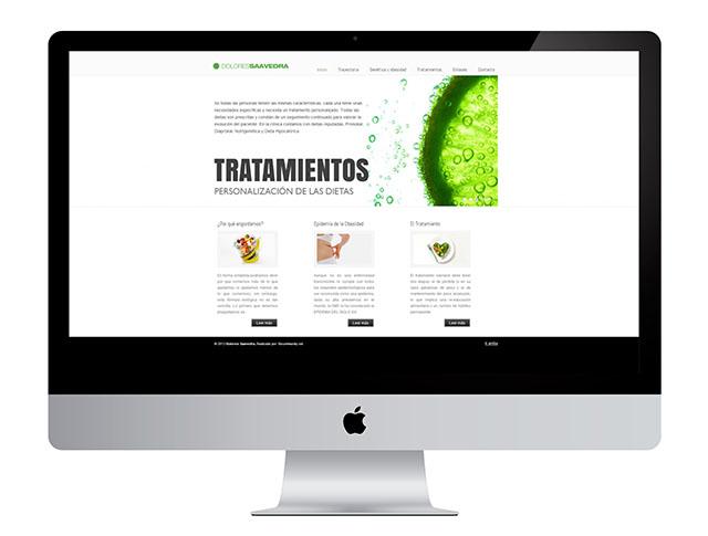 Con este trabajo en diseño web a Dolores Saavedra, mejoramos su presencia en internet