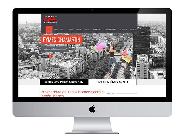 En la creación y diseño de la web de la asociación Pymes Chamartín despertamos las ganas de venirse arriba de esta asociación