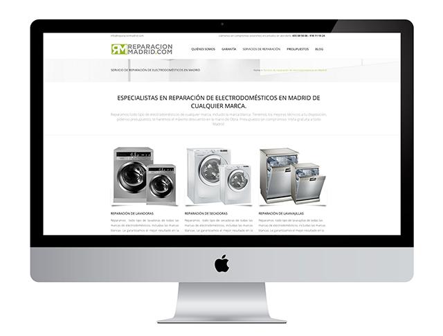 Con este trabajo en diseño web a Reparación Madrid mejoramos su presencia en internet
