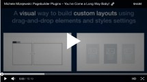 Pagebuilder Plugins have Come a Long Way Baby! by @mmizejewski