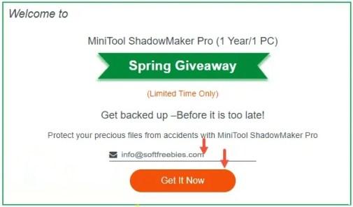 Minitool ShadowMaker Giveaway License Code