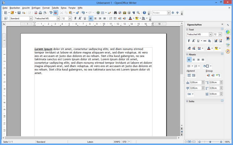 OPEN OFFICE WRITER 4.1.1