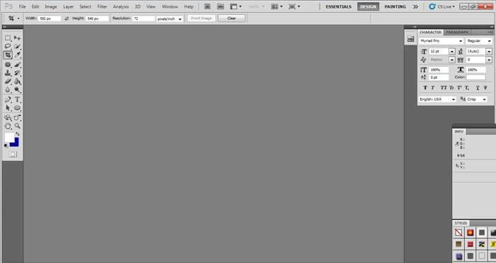 Adobe Photoshop CS5 Interface