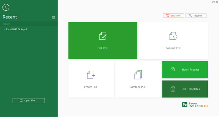 iskysoft pdf editor interface