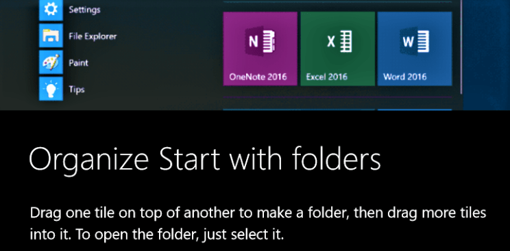 should i upgrade to windows 10 - organize start with folders