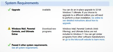 Download the Windows 7 Update Advisor