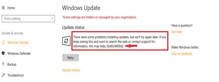 0x8024a105 windows 10 update problems 2016