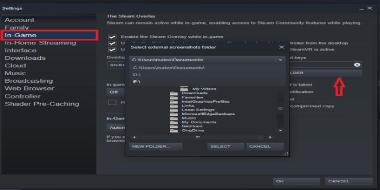 how do i find steam screenshots folder