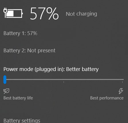 laptop battery not charging