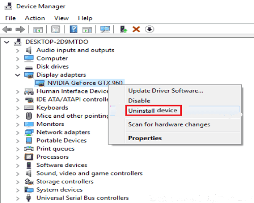 uninstall nvidia control panel missing display tab