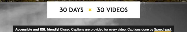 30day30videos