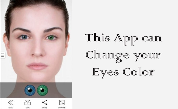 Android eye color changer app
