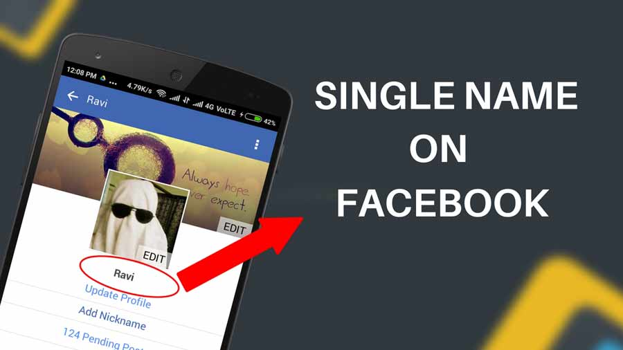 How to make single name account on Facebook (without proxy