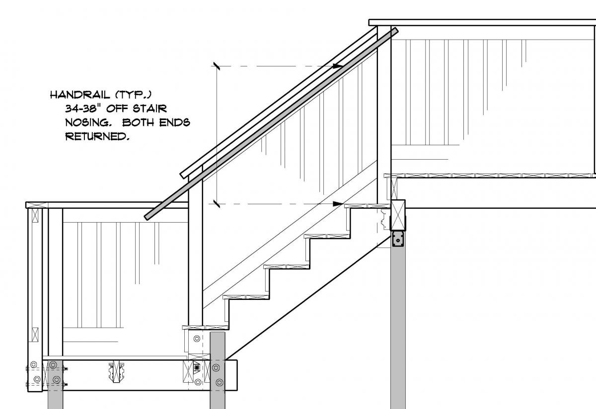 Outside Deck Stair Handrails To Latest Code